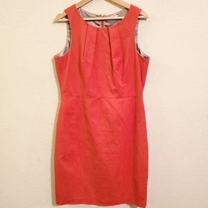 Tahari Red/orange Sleeveless Dress 12